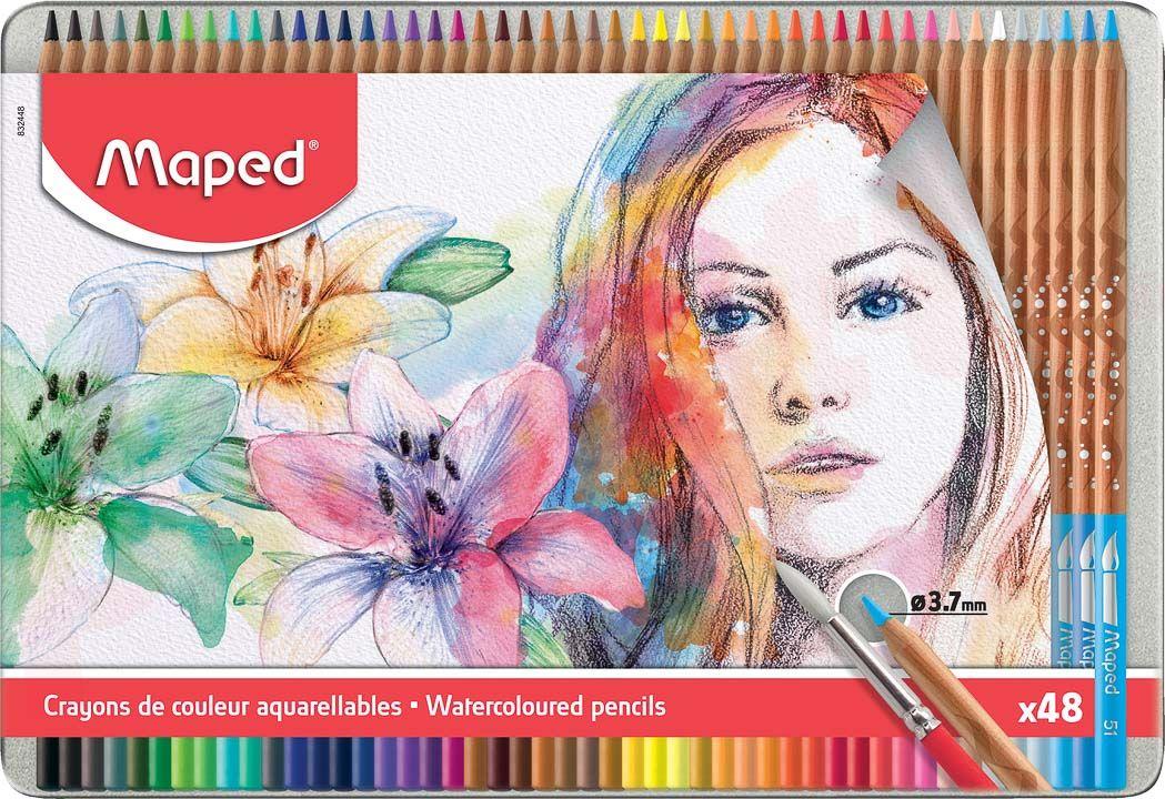 creioane colorate acuarela maped